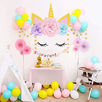 Sayala Unicorn Party Decorations Diy Unicorn Horns Eyes With
