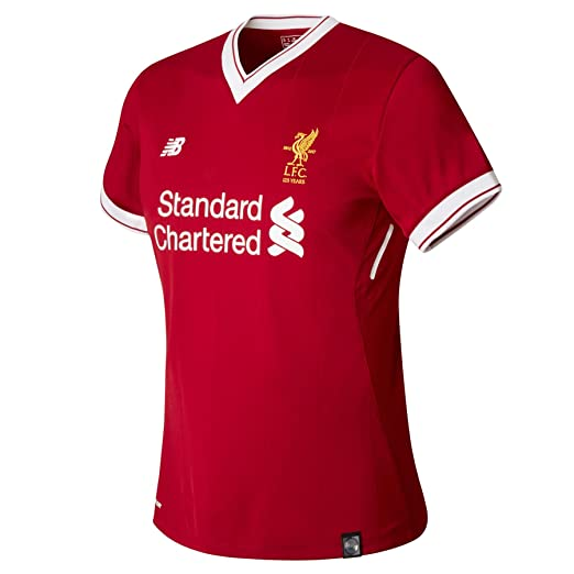 sports shoes ff35d 36243 New Balance 2017-2018 Liverpool Home Ladies Football Soccer T-Shirt Jersey