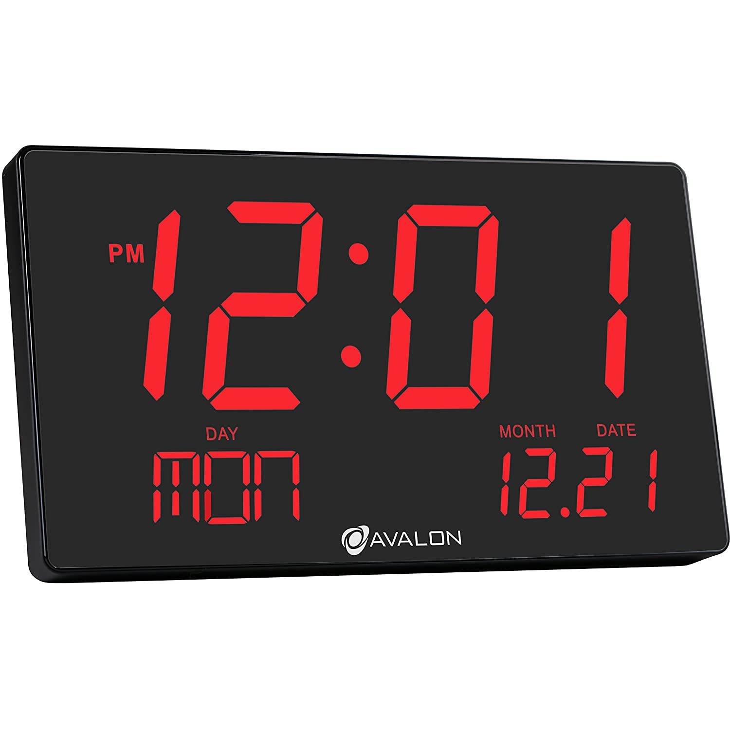 Avalon oversized led digital clock extra large display easy to read 3 inch dig ebay - Extra large digital wall clock ...