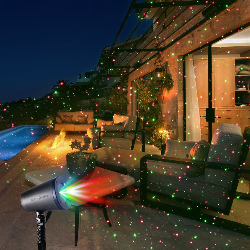 Amazon.com: LaserXplore Laser Christmas Lights, Red and Green Star ...