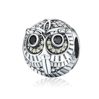 Uniqueen Jewellery Owl Wisdom Charm Beads fit Charms Bracelet 35I49q4