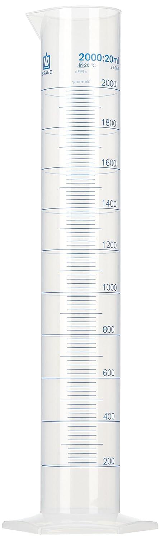 neoLab E-1617 Cylindre de mesure haute forme hexagonal PP, 2000 mL