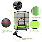 """Giantex 55"""" Round Kids Mini Jumping Trampoline W/ Safety Pad Enclosure Combo"""