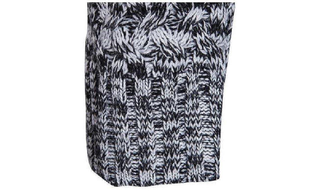 Ruhua Mens Turtleneck Fall Winter Warm Outwear Knitting Zip Up Sweater