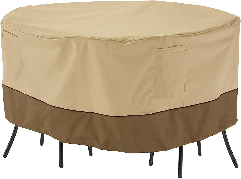 Classic Accessories Veranda Round Patio Bistro Table Chair Set Cover