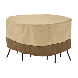 Classic Accessories Veranda Round Patio Bistro Table & Chair Set Cover