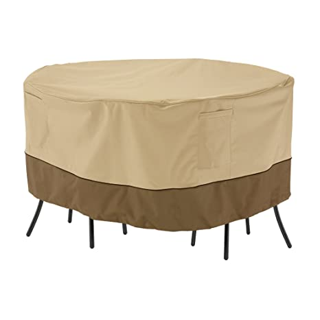 Amazon.com : Classic Accessories Veranda Round Patio Bistro Table ...