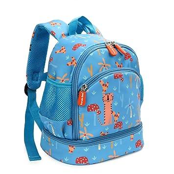 Mochila Infantil,Pomelo Best Impermeable de Bolso Escolar Bebé con Correa de Hombro Ajustable Infantil Viaje y Guardería Infantil (Azul Claro): Amazon.es: ...