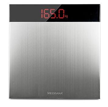 Medisana PS 460 40433, Báscula Personal Digital XL, para determinar el peso corporal hasta 200 kg, en diseño de acero inoxidable de alta calidad: Amazon.es: ...