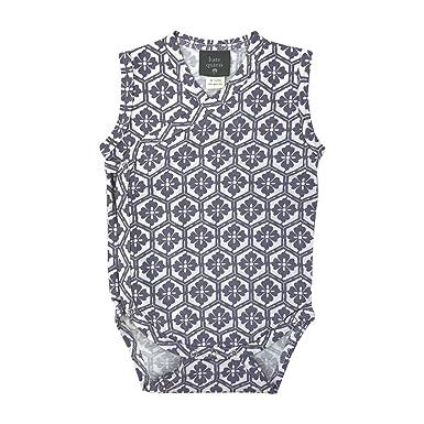 5f9124751 Kate Quinn Organics Unisex-Baby Sleeveless Kimono Bodysuit, 18-24M (Blossom)