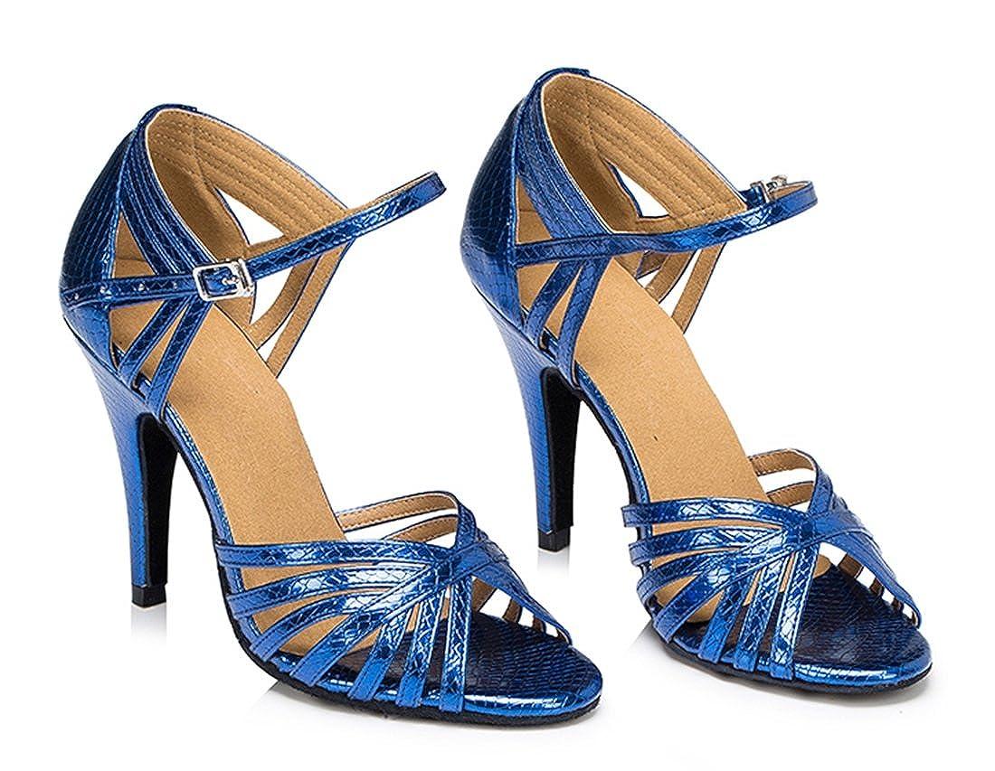 TDA Women's Fashion Single Strap Stiletto High B06XJ2ZZJD Heel Latin Salsa Ballroom Dance Shoes B06XJ2ZZJD High Dance 83d71a