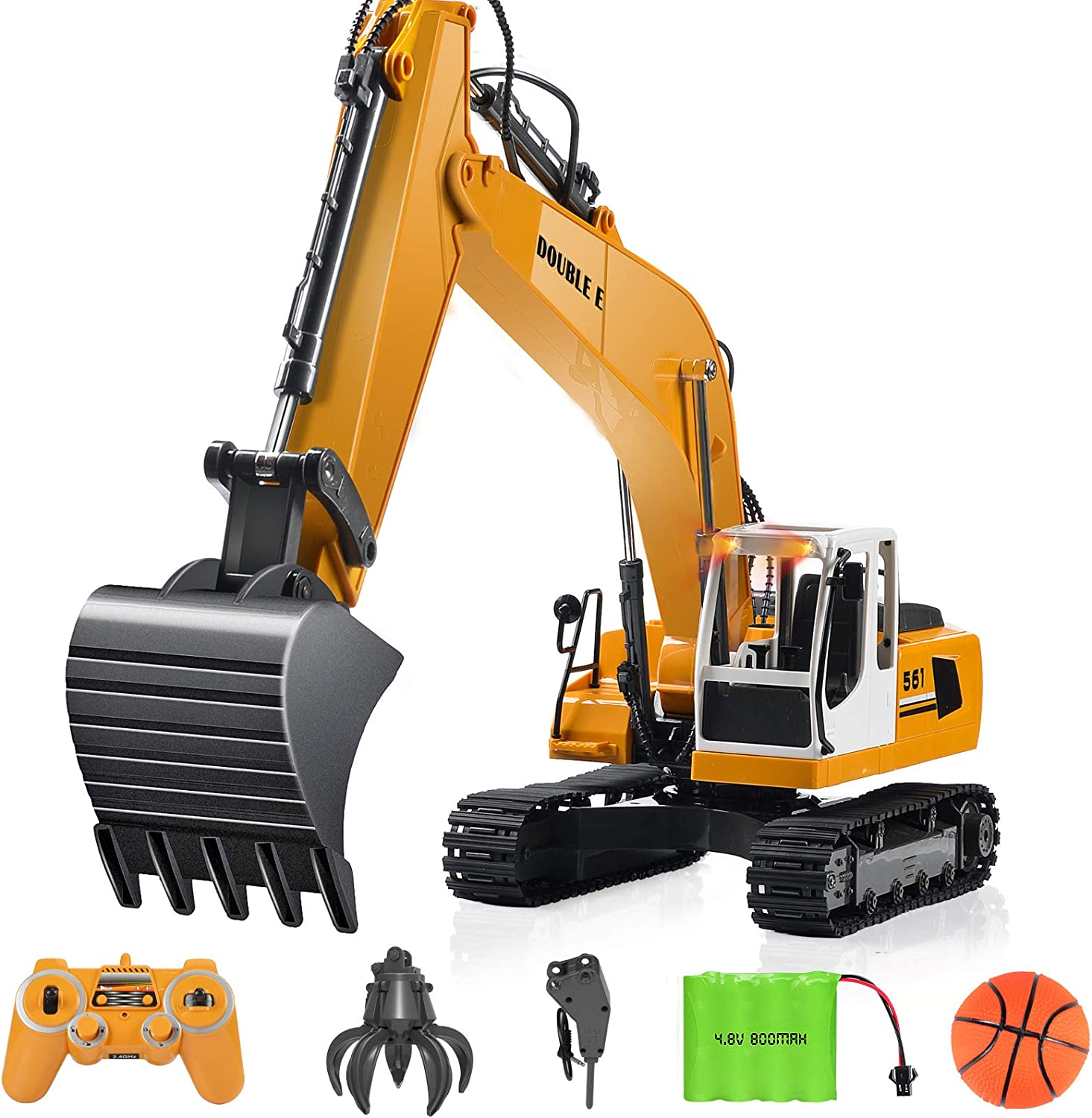Remote Control Bulldozer 9 Channel 2.4G RC Alloy Bulldozer Charging Model,RC Construction Vehicles 1:16 for Adults Kids 8+