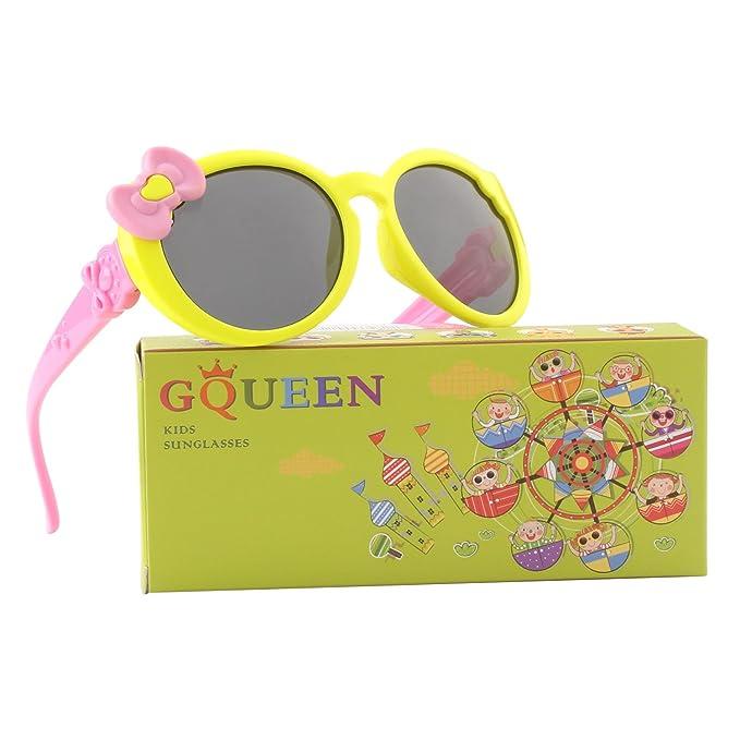c6fdeb479f GQUEEN Gafas de sol polarizadas flexibles Linda de goma para niños y  infantes de 3-7 años de Edad, ET60: Amazon.es: Ropa y accesorios