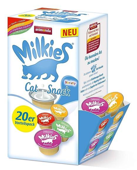 Animonda Milkies Leche para Gato, multipaquete en porciones, 4 Paquetes de 20 x 15