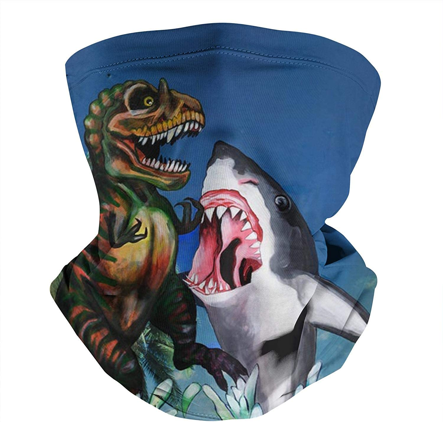 Free Kisses Shark Vintage Seamless Face Mask Headband Tube Neck Gaiter Balaclava for Dust Outdoor Sports