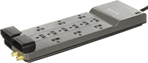 Belkin Surge Protector, 3940 Joules, 12 Outlets, 8', Gray