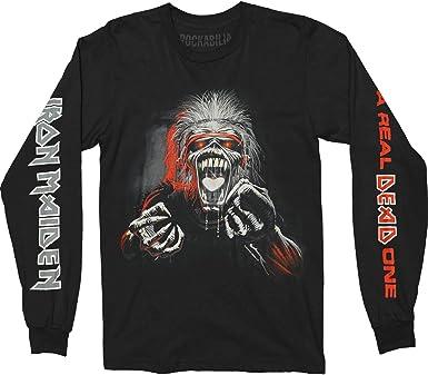 Iron Maiden A Real Dead One - Camiseta de Manga Larga para Hombre, Color Negro