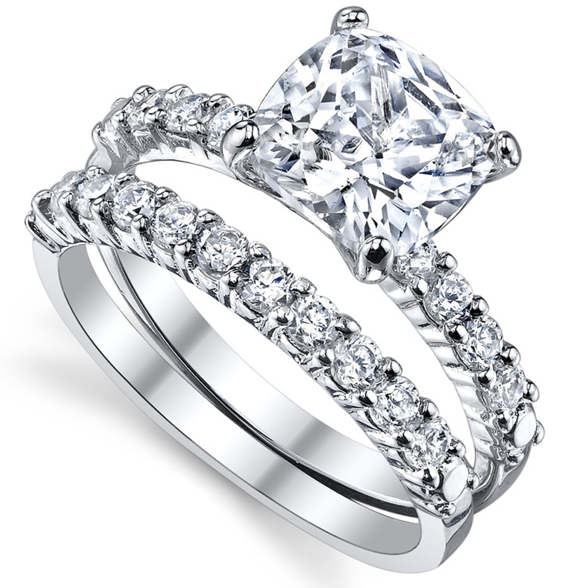 Amazon.com: Fabuloso anillo de zirconia cúbico ...