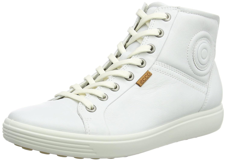 ECCO Womens Soft VII High-Top Fashion Sneaker B00RC7Q9YK 36 EU/5-5.5 M US|White