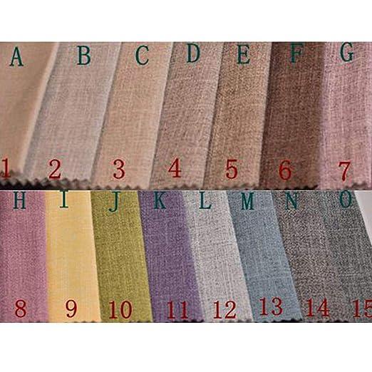 Amazon.com: Tela de lino y algodón de color sólido para ...