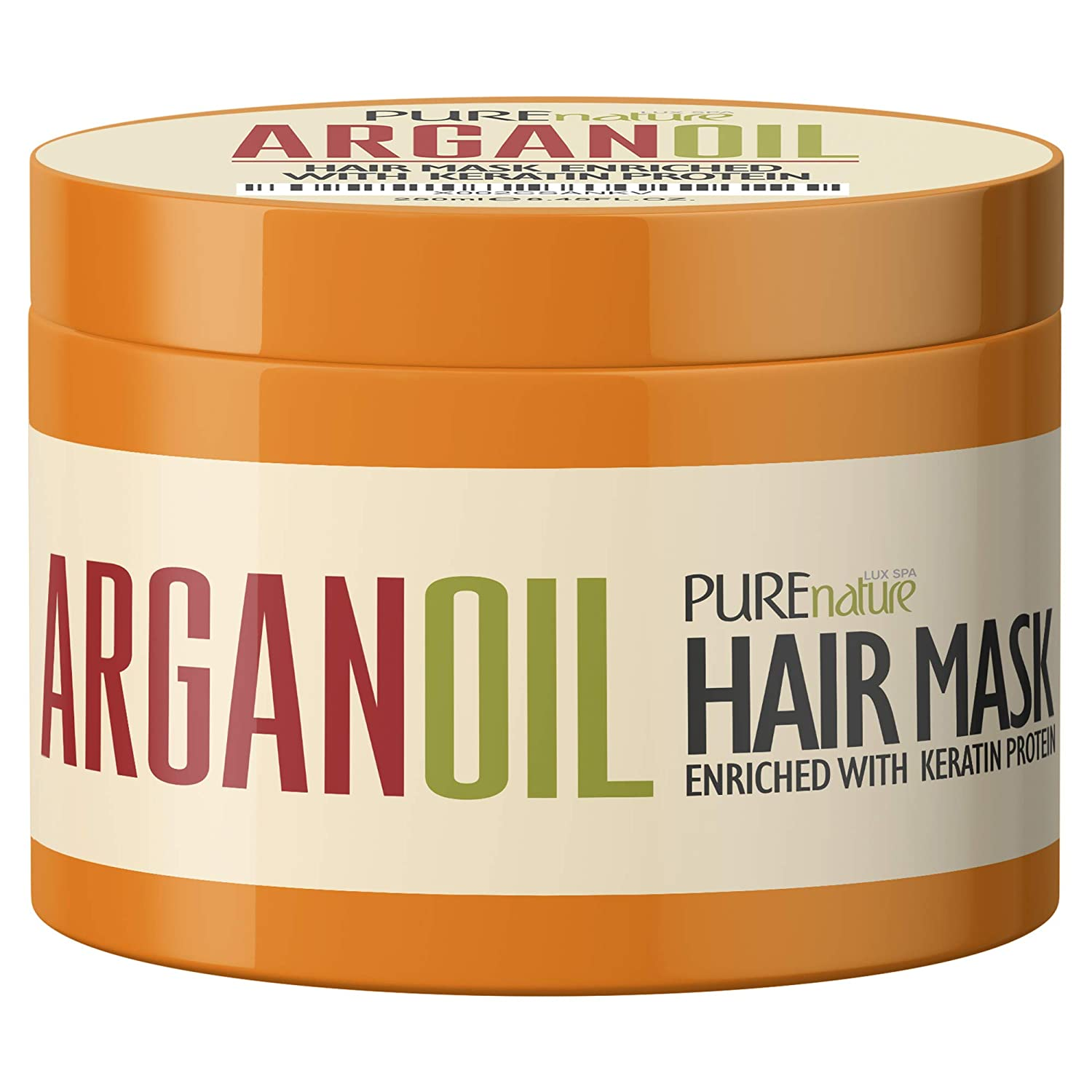 Argan Oil Hair Mask - Deep Conditioner Treatment for Dry Damaged Hair - Moroccan Split End Moisturizer, Natural Hydrating Product