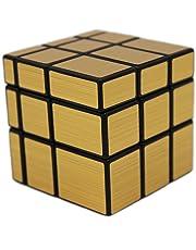 MEISHINE® Dorado Mirror Cube Cubo mágico de Oro Cubo Mágico Inteligencia Mágico Cubo de la Velocidad Juego de Puzzle Cube Speed Magic Cube Stickerless