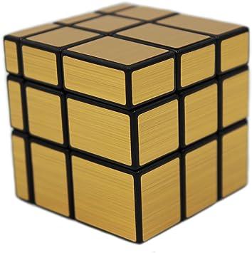 MEISHINE Dorado Mirror Cube Cubo Mágico de Oro Cubo Mágico ...