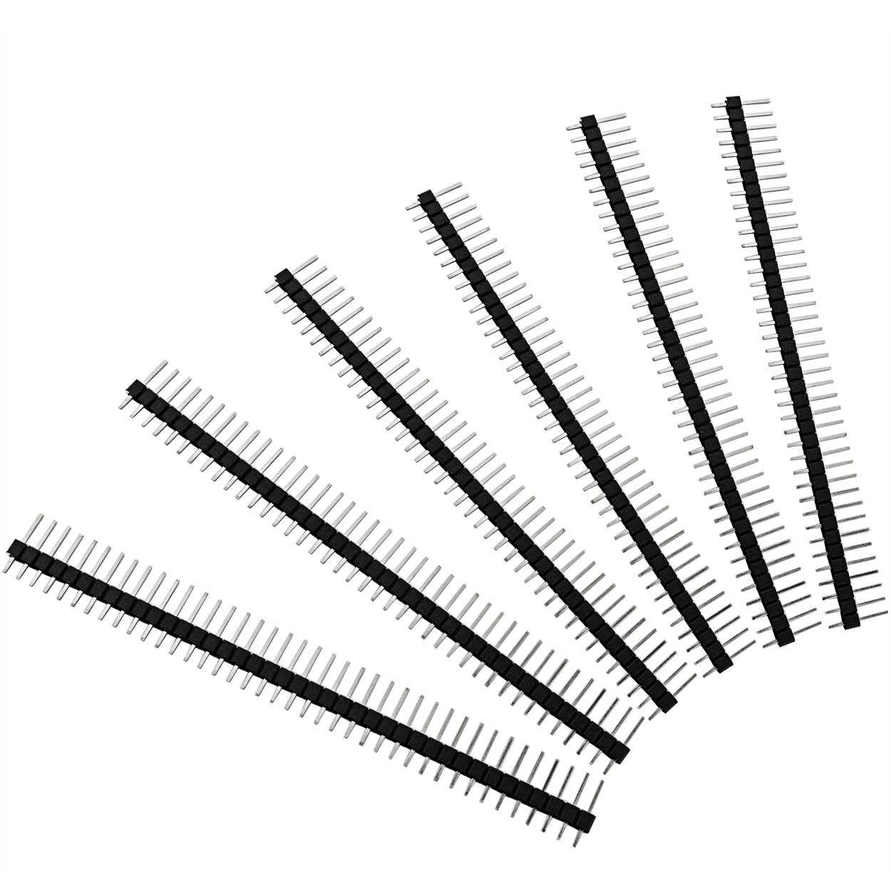 100pcs male header pins lystaii straight single row 40 pin 1 inch 38 Pin Male Connector 100pcs male header pins lystaii straight single row 40 pin 1 inch 2 54mm male pin header connector pcb board pin connector electronic ponent raw