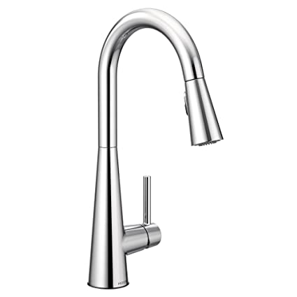 Moen 7864 Sleek One-Handle High Arc Pulldown Kitchen Faucet ...