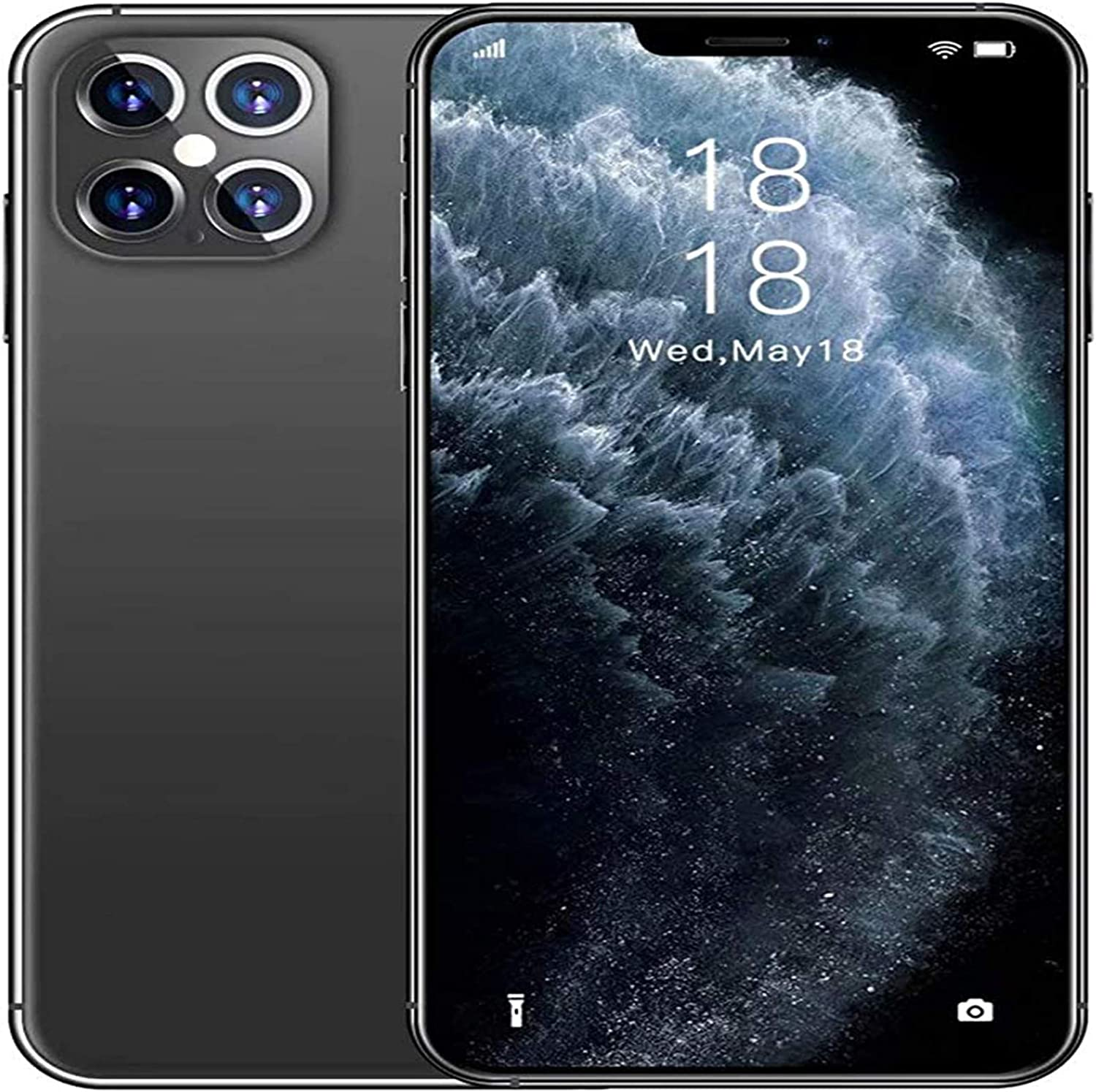 I12promax Smart Phone 6.7-inch Large Screen Face Unlock 2GB+16GB Resolution 7201560 Pixels, Mobile Phone 8 Million Camera Face Set to Unlock The Phone, with WiFi/BT/FM/GPS Always Stick to succe