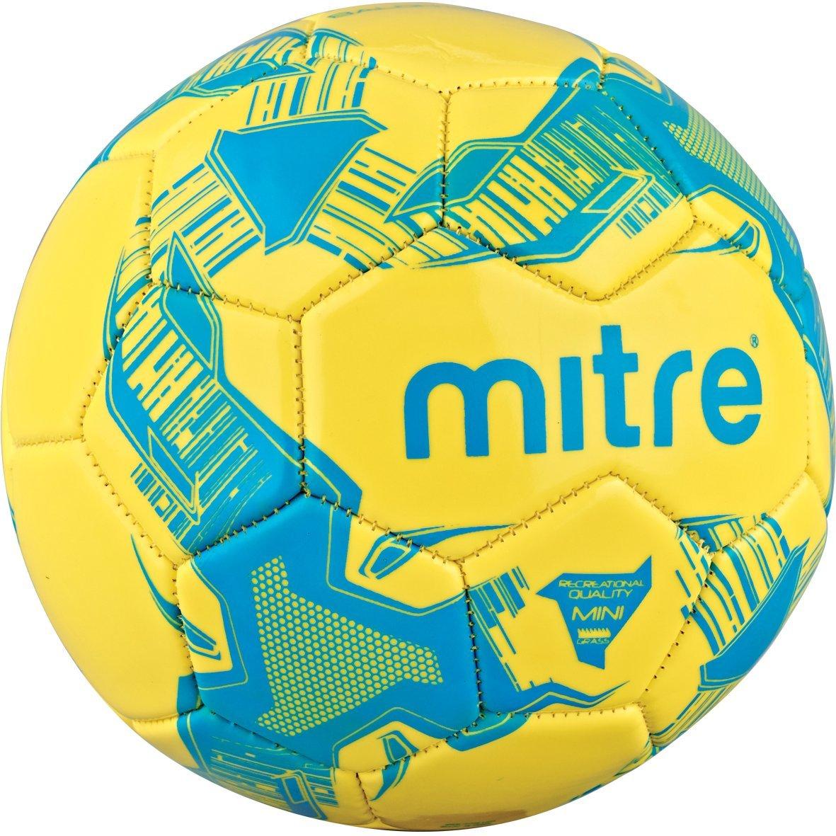 Mitre Balon Football B018XXDKSE Yellow/Cyan Size 4