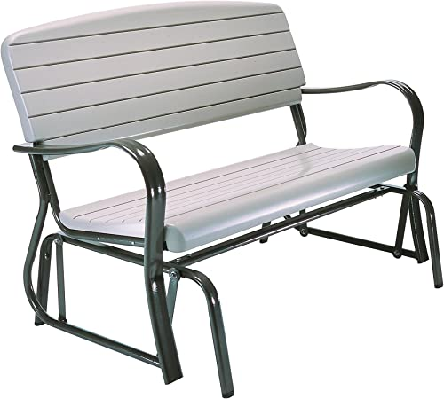 Lifetime 2871 Outdoor Glider Bench, 4 Foot, Putty