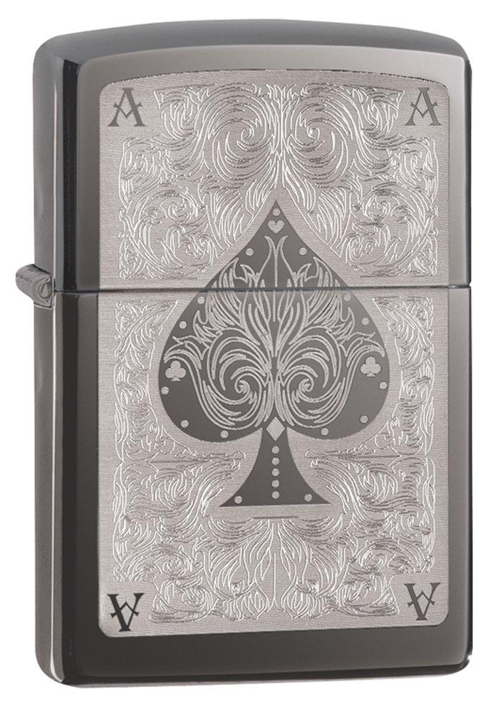 Zippo Spade Card Pocket Lighter, Black Ice by Zippo