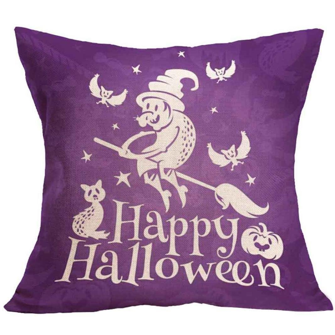 Hatop Halloween Square Pillow Cover Cushion Case Pillowcase