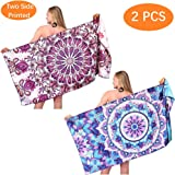 Mandala Sand Free Beach Towel-Oversized Large Fast Dry Super Absorbent Lightweight Thin Bath Towels Blanket for Travel…