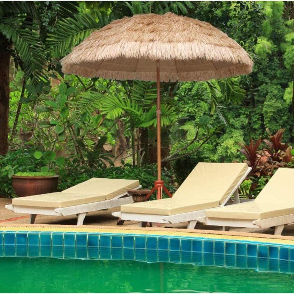 HH- Sombrillas Sombrilla de Sombrilla de Paja de Playa, Sombrilla Impermeable Al Aire Libre para Sombrillas de Patio de Piscina de Jardín Redondas con Función de Inclinación