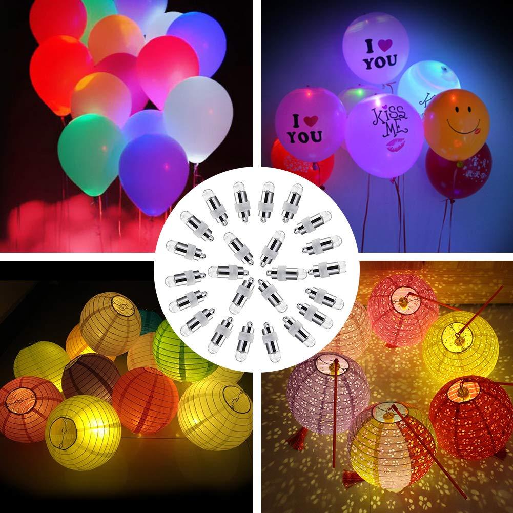 LED Ballon Lichter ARINO LED Luftballons Lichter Wasserdichte Licht Umweltfreundlicher Batterie Für Papierlaternen, Blumendekor, Hochzeit, Party, Geburtstag, Jahrestags-Feier, Weihnachten, Halloween und mehr ( 40 Stück, Warmweiß-Nicht Blink