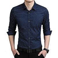 TOM T Men's Cotton Dot Print Shirt