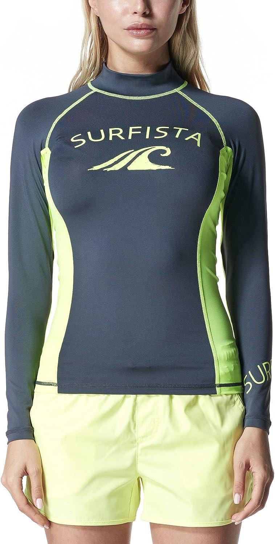 TSLA Womens UPF 50+Swim Shirt Rashguard Long Sleeve FSR Series