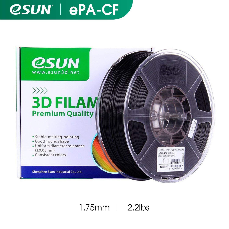 eSUN Bobine Filament ePA-CF nylon en fibre de carbone 1.75mm FDM 1kg Pr/écision Dimensionnelle /±0.05mm Vente Directe dusine Cartouche de Filament pour Imprimante 3D