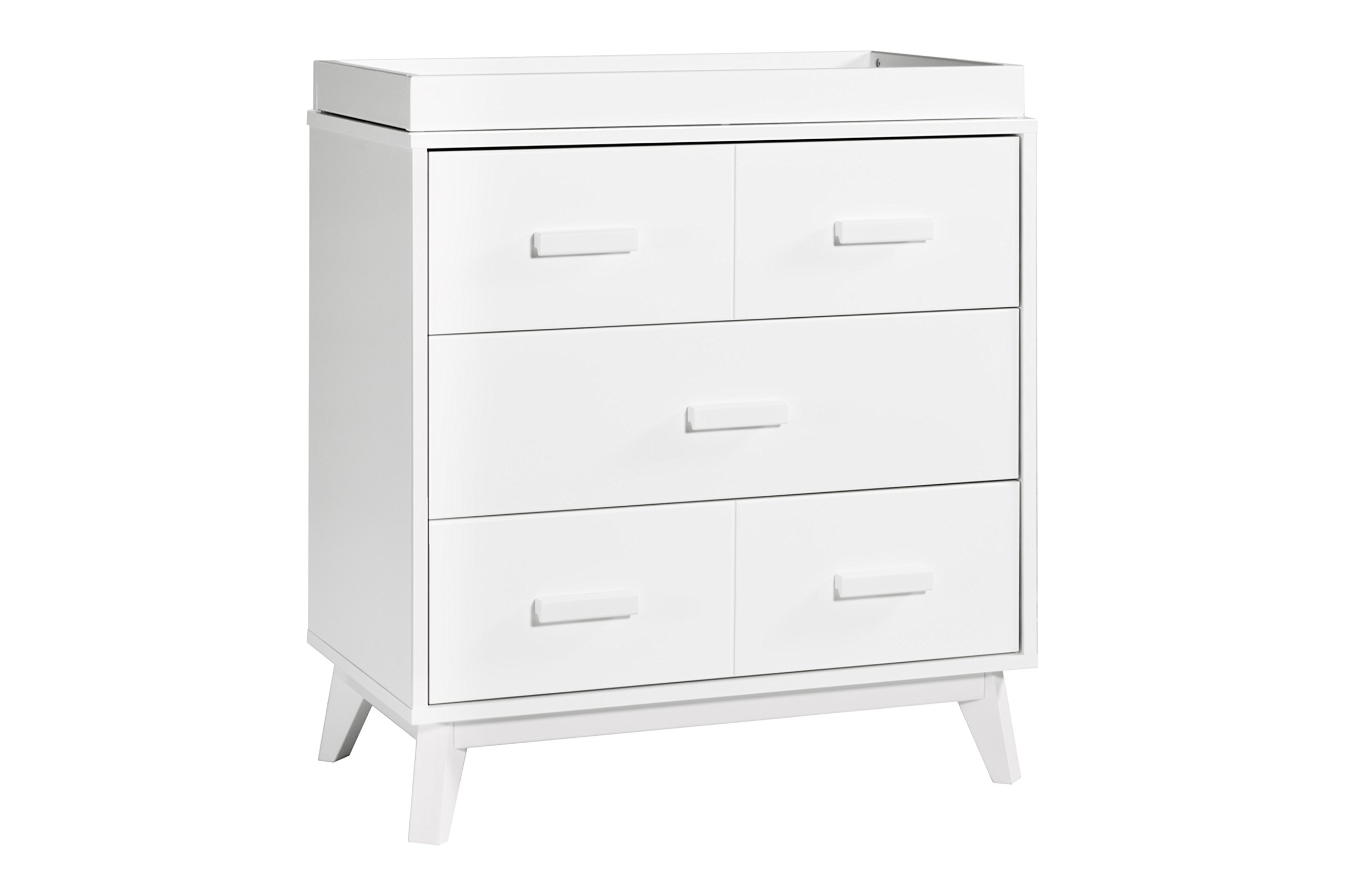 Babyletto Scoot 3-Drawer Changer Dresser with Removable Changing Tray, White