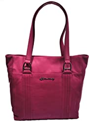 B Makowsky Quilted Leather Tote True Bourdeaux