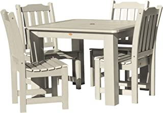 product image for highwood AD-DNL44-WAE Lehigh 5-Piece Square Dining Set, 42-Inch, Height, Whitewash