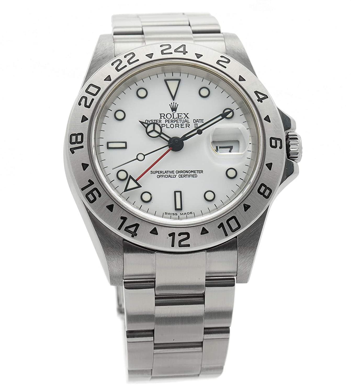 c06ee6029b5 Amazon.com  Rolex Explorer II Automatic-self-Wind Male Watch 16570  (Certified Pre-Owned)  Rolex  Watches