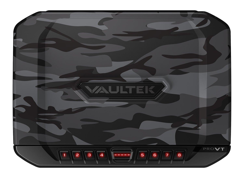 Vaultek VT Full-Size Handgun Bluetooth Smart Safe Multiple Pistol Safe with Auto-Open Lid and Rechargeable Battery (Camo)