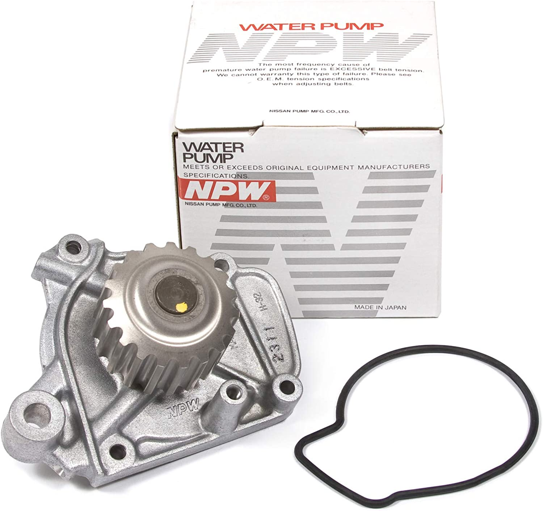 Evergreen TBK224HPSVCN Race Series Timing Belt Kit Water Pump Valve Cover Fit 92-95 Honda Del Sol Civic 1.6L D16Z6