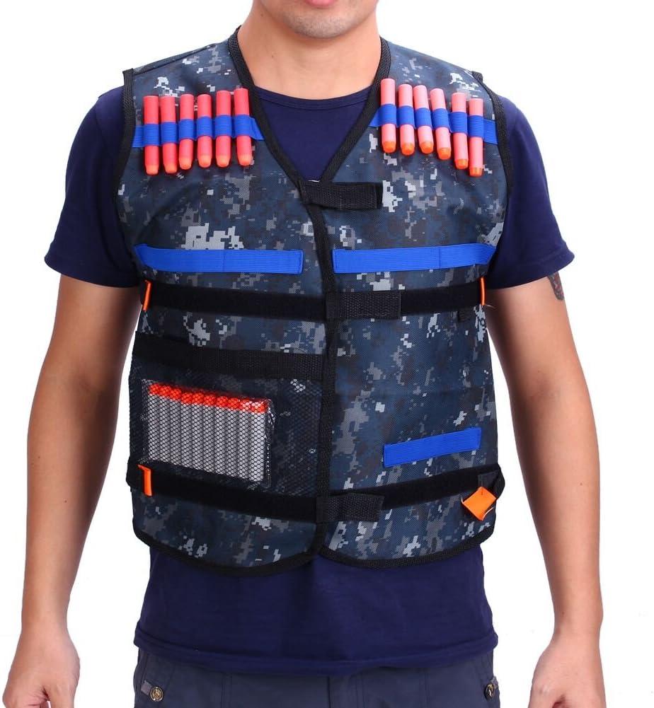 Yosoo Chaleco de Caza Chaleco Táctico de Élite Para Nerf Gun N-strike Serie Elite(Sólo chaleco)
