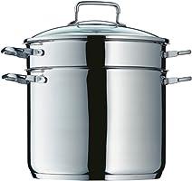 Panela para pasta com escorredor em aço inox 7 litros WMF
