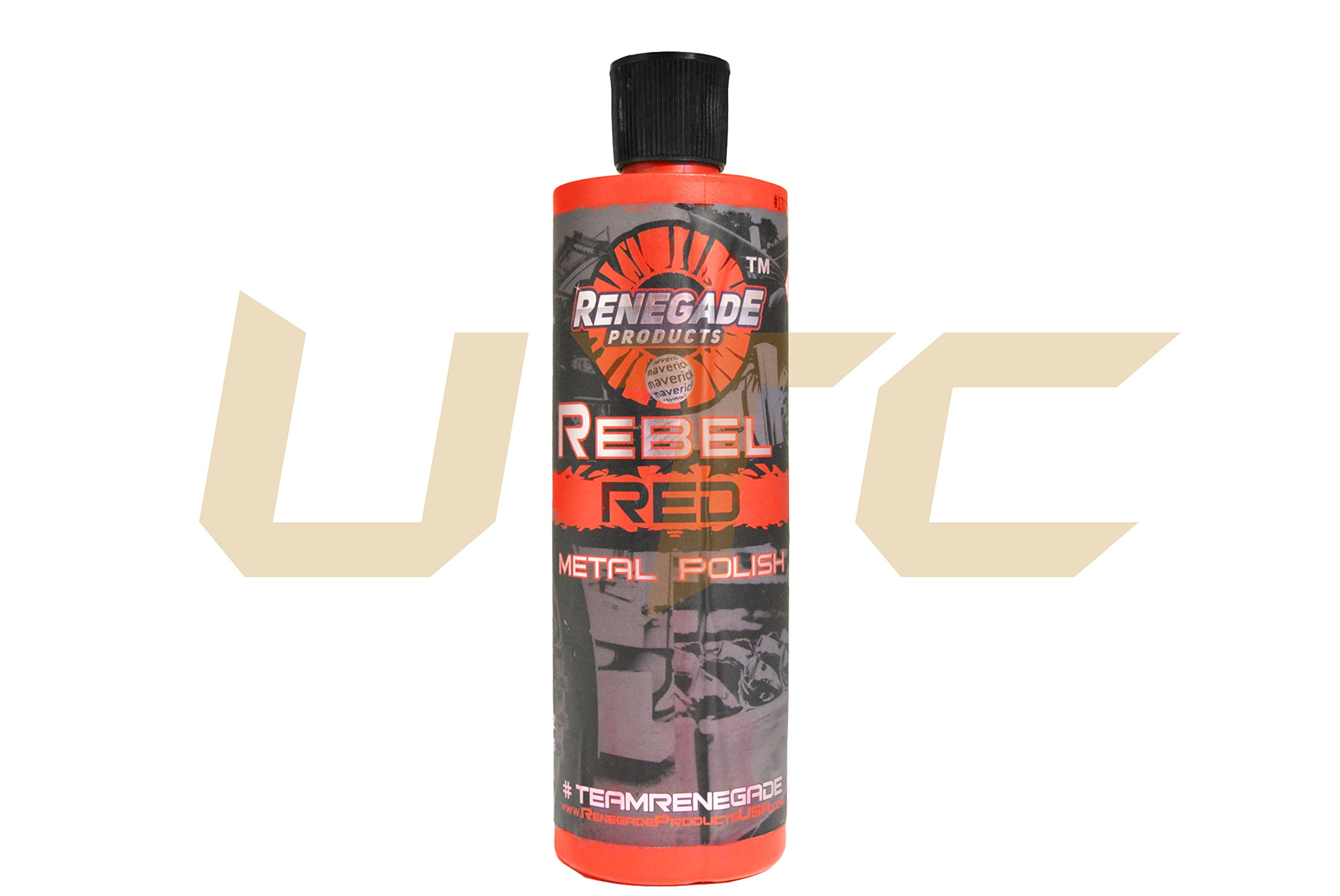 UTC 12oz Rebel Red Metal Polish Renegade Bottle Products for Aggressive Detail Cut Scratch Removal