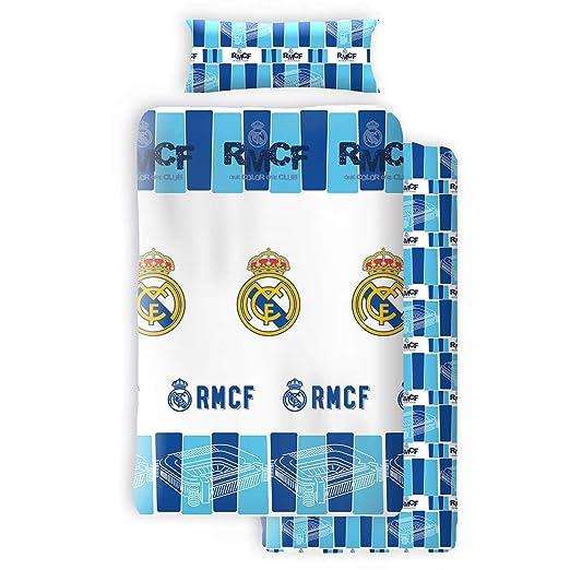 Juego de sábanas licencia Real Madrid: Amazon.es: Hogar